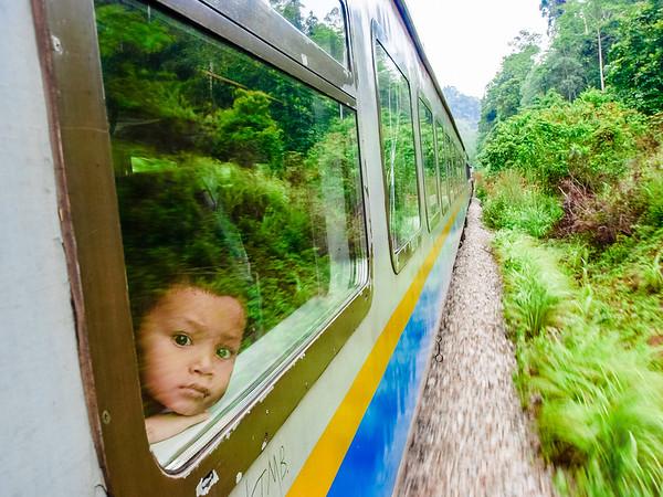 Boy in the Jungle Train - Kuala Lipis, Malaysia