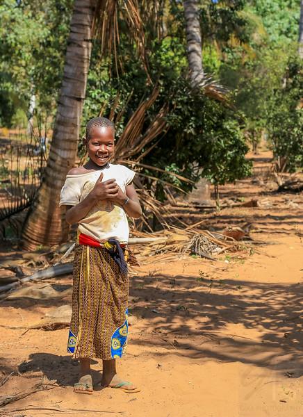 Girl at Dovela - Mozambique