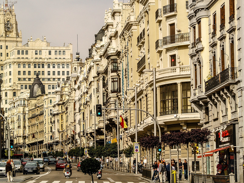 Gran Via - Madrid, Spain