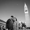 Mama und Jürgen auf dem Markusplatz (Piazza San Marco); der bedeutendste und bekannteste Platz in Venedig.