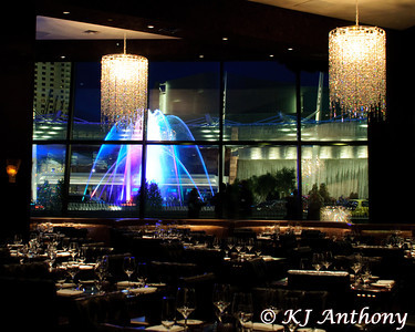 The view from Actress Eva Longoria Parker resturant  Beso, located in Crystals at City Center in Las Vegas. Beso is Spanish for kiss.