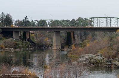 The Green Bridge on an overcast Fall day December 13, 2016 in Oroville, California. (Emily Bertolino -- Mercury Register)