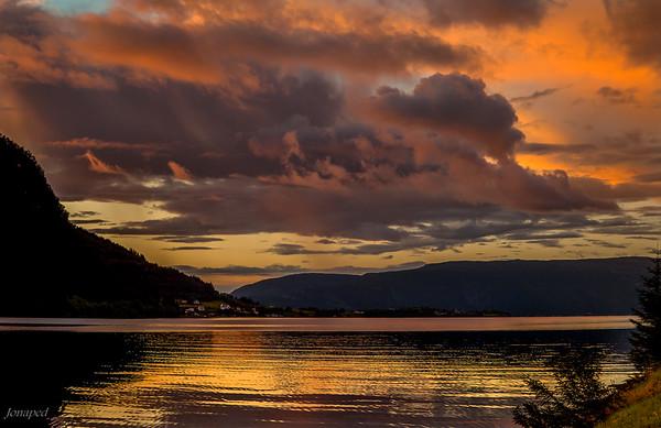 Sunset at Brekke /Solnedgang i Brekke