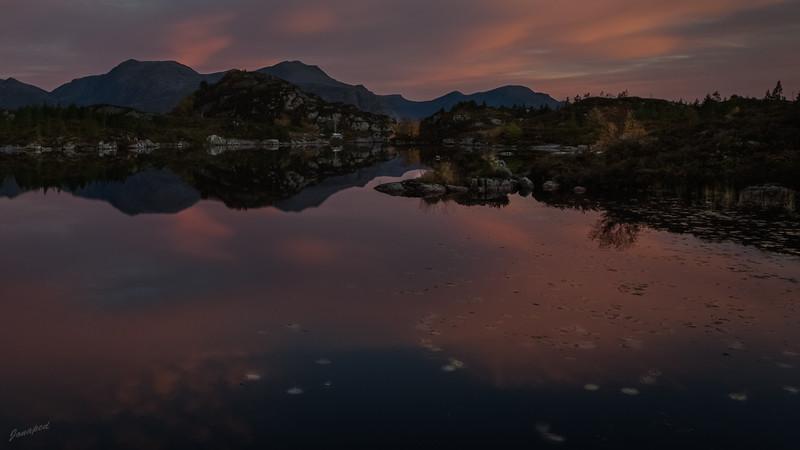 Sunset at the Bremanger Island/Solnedgang på Bremangerlandet