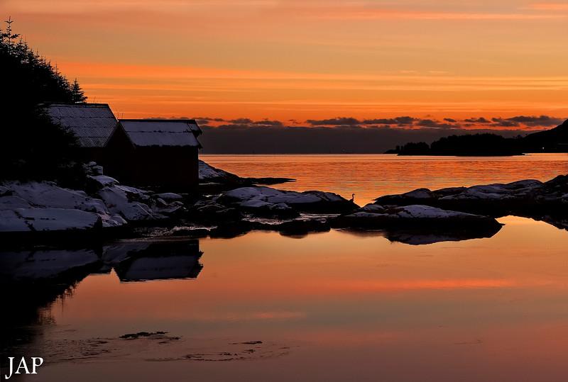 Vinterhimmel mot Kalvåg
