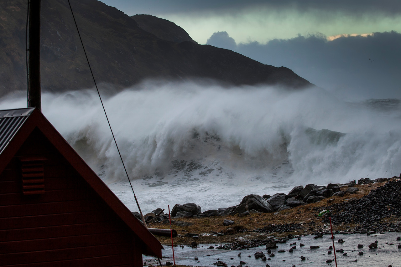 Hurricane at the Western Coast of Norway