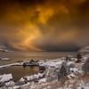 Snow Coming in from the North Sea/Snøbygene Kjem inn frå Nordsjøen