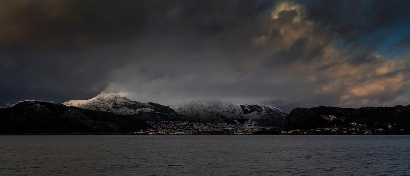 Towards Måløy on the Western Coast of Norway