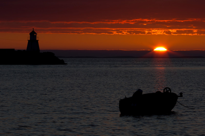 Sunset in Uthaug,Fosen