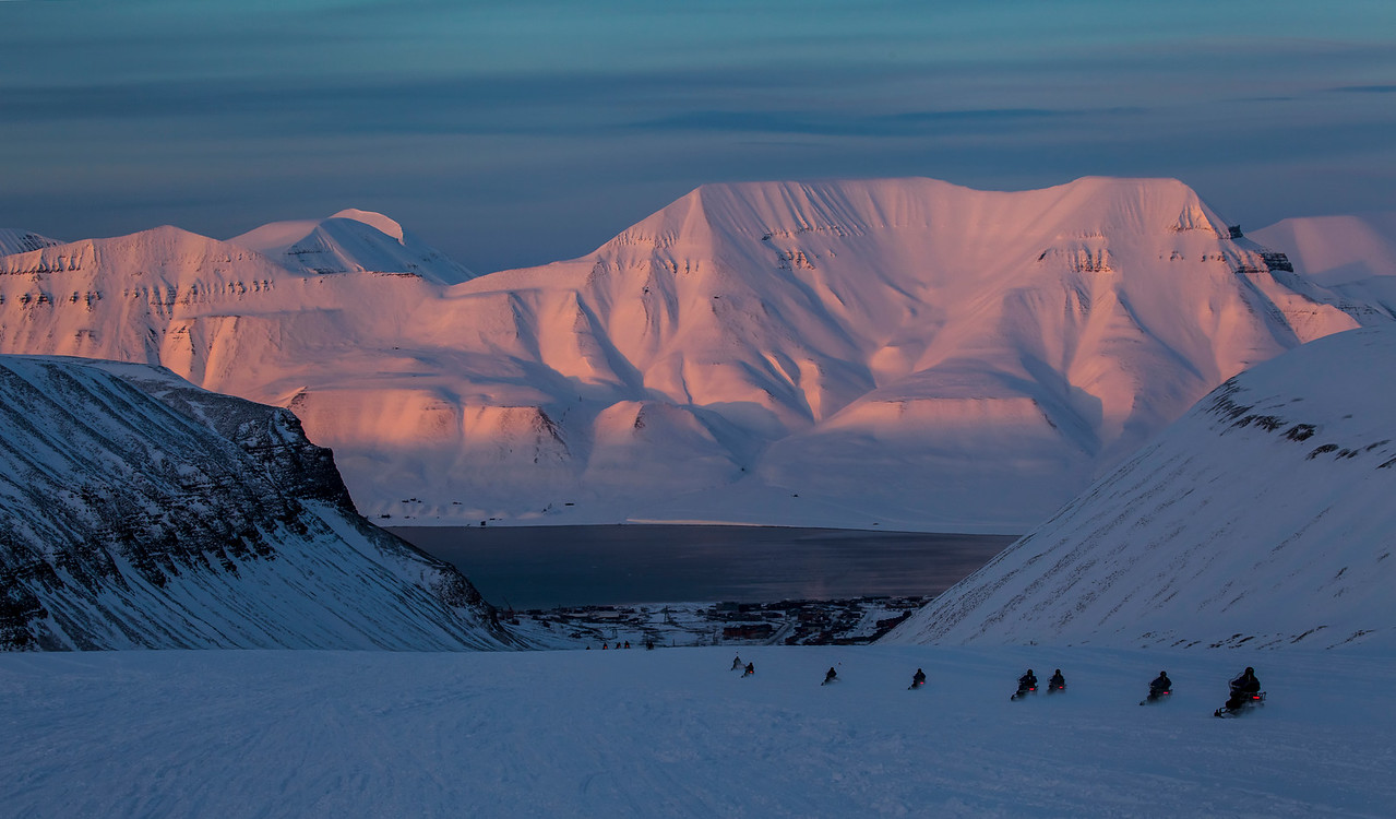 Longyear City on Svalbard