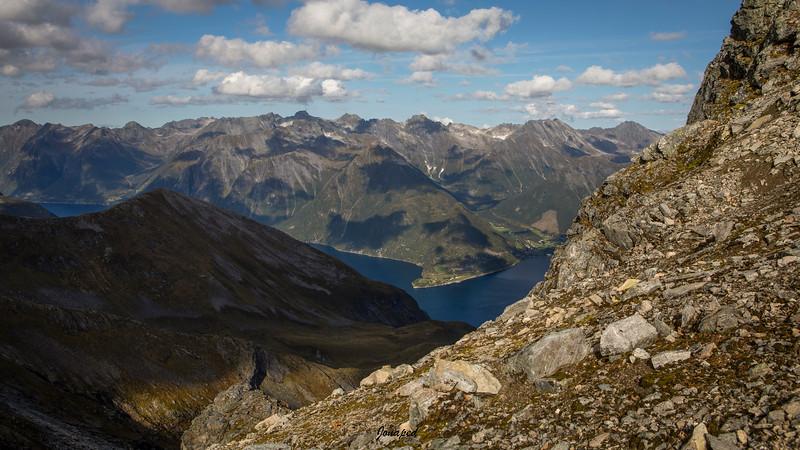 Frå Skårasalen mot Urke og Hjørundfjorden