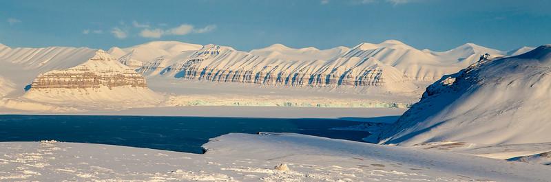 Temple fjord on Svalbard
