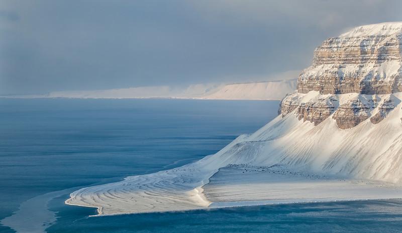 Sassen fjord on Svalbard