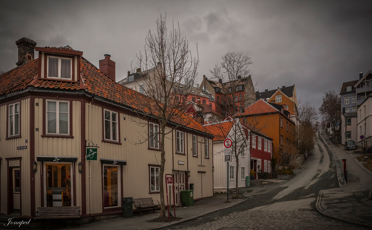 Frå Bakklandet i Trondheim