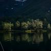 Kvelden på Traudalsvatnet