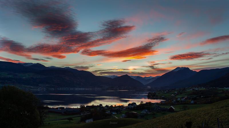 Haustmorgon i Gloppefjorden