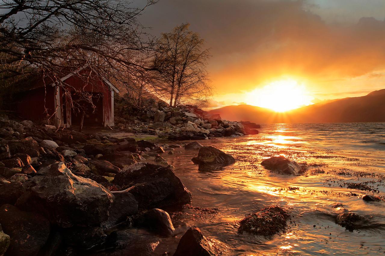 Sunset on Hestenesøyra/Solnedgang på Hestenesøyra