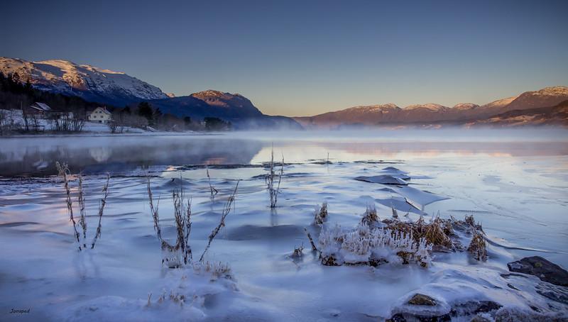 Vinterstemning på Fjorden