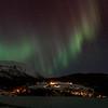 Vakkert lys over Ravnestad og Rauset