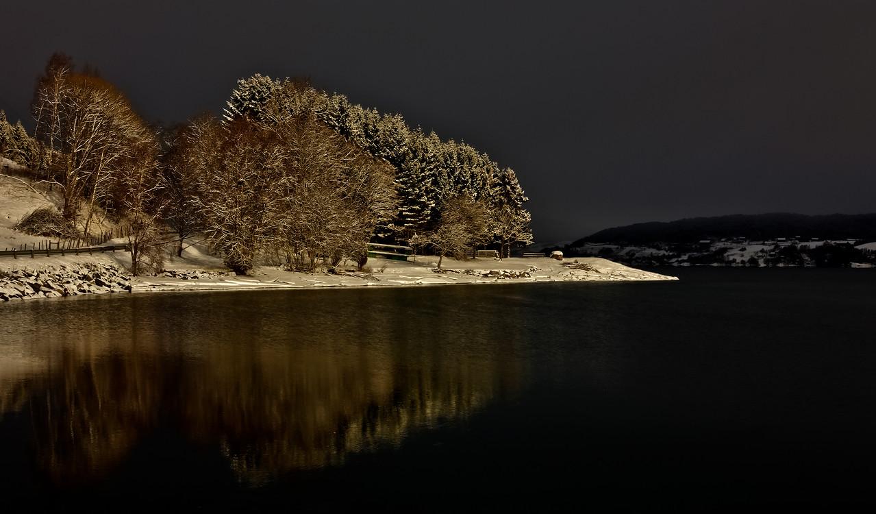 Gloppefjorden<br /> Sunlight on Sandsneset<br /> Sol på Sandsneset