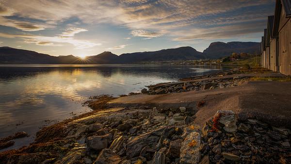 Soloppgang ved Gloppefjorden