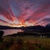 Vakkert Morgonlys over Fjorden