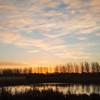 Sunrise at Hansen RSPB nature reserve