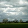 Grey clouds above Gun's Lane, Histon