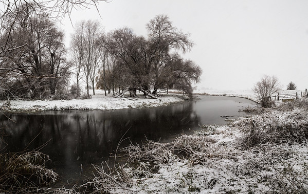 Snow over the River Great Ouse