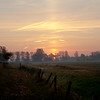 Late October sunrise above Queenholme Farm alongside the River Great Ouse, nr Cambridge