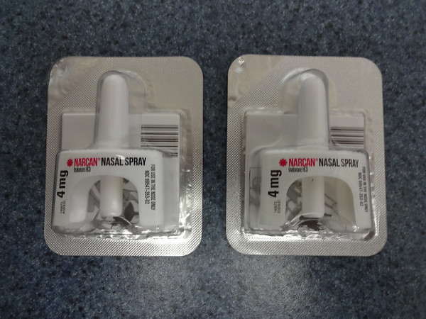 MARY MARKOS/Staff photo<br /> Officers of the Essex Police Department are now carrying Narcan in their cruisers. The drug can help stop a person from overdosing on opioids.