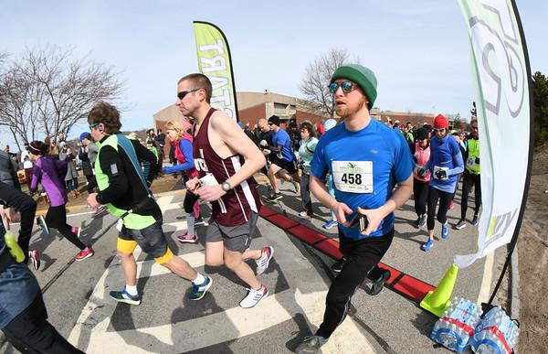 JIM VAIKNORAS/Staff photo Start of the half marathon at the Fool's Dual Half Marathon and 5k.