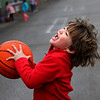 MIKE SPRINGER/Staff photo<br /> Nolan Jurczak plays basketball during the Manchester Parks & Recreation Department's Kindergarten Busy Bees after-school program at Manchester Memorial Elementary School.