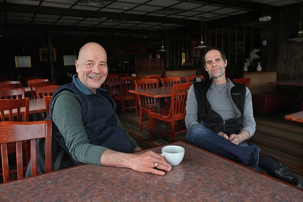 MIKE SPRINGER/Staff photo<br /> Kevin Ricci, left, and his brother Mark, owners of the Village Restaurant in Essex. The Ricci's have offered to sell the property to the town of Essex for use as the site of a future fire station.<br /> 4/2/2018