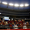 The Gloucester band tries to get the crowd going during the Fishermen's Division 2A Super Bowl game against Duxbury at Gillette Stadium on Saturday. The Fishermen lost 46-26. Photo by Kate Glass/Gloucester Daily Times Saturday, December 6, 2008