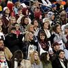 Gloucester fans pack the stands at Gillette Stadium as the Fishermen play Duxbury in the Division 2A Super Bowl on Saturday. Photo by Kate Glass/Gloucester Daily Times Saturday, December 6, 2008