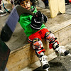 Gloucester: Brady Salah, 3, examines his stick after skating a lap around the Talbot Rink during Cape Ann Youth Hockey's family night on Monday. Photo by Kate Glass/Gloucester Daily Times Monday, November 10, 2008