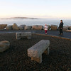 Rockport: Zachary Moceri, 8, of Rockport, plays catch with his sister, Julia, 6, and parents, Colleen and Joe, at the end of Bearskin Neck Monday afternoon. The kids got a frisbee and jumprope from the Happy Whale and wanted to play with the toys right away. Photo by Kate Glass/Gloucester Daily Times Monday, December 1, 2008