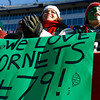 Stephanie Smith of Rockport and her daughter, Olivia Smith, 15, cheer for Manchester Essex lineman Ben Smith as they play in the Super Bowl at Gillette Stadium on Saturday. Photo by Kate Glass/Gloucester Daily Times Saturday, December 6, 2008