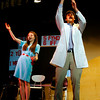 """Manchester: Allie Freed and Jeff Kimball rehearse """"Universal Language,"""" a play from David Ives' """"It's All in the Timing,"""" which is being performed by Manchester Essex High School students at the Memorial School Auditorium Thursday-Saturday at 7pm."""