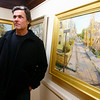 Gloucester: Local painter Ed Herman lost both his home and his artwork in the Lorraine fire last year. Despite this, Herman says he has only good memories from the building and has exhibited new works at the Rockport Art Association. Photo by Kate Glass/Gloucester Daily Times Wednesday, December 3, 2008