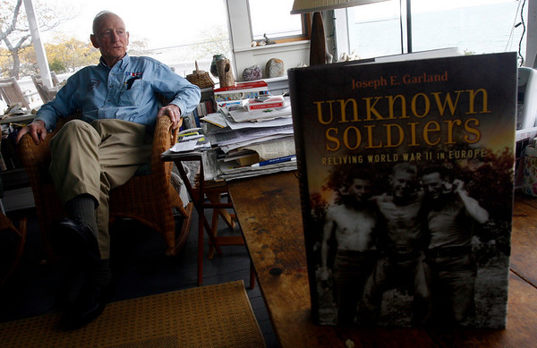 """Gloucester: Gloucester resident Joe Garland's latest book, """"Unknown Soldiers: Reliving World War II in Europe,"""" is now available in bookstores. Photo by Kate Glass/Gloucester Daily Times Thursday, October 30, 2008"""