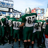 The Manchester Essex Hornets get pumped up for their Super Bowl game against the Tri-County Cougars at Gillette Stadium on Saturday. Photo by Kate Glass/Gloucester Daily Times Saturday, December 6, 2008