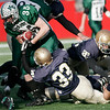 Manchester Essex's Brian Ciccone breaks several tackles as he runs the ball during their Super Bowl game against the Tri-County Cougars at Gillette Stadium on Saturday. Photo by Kate Glass/Gloucester Daily Times Saturday, December 6, 2008