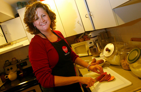 Essex: Laurie Lufkin of Essex won a Prevention magazine recipe contest and filmed a show for the Food Network. Photo by Kate Glass/Gloucester Daily Times Monday, November 24, 2008