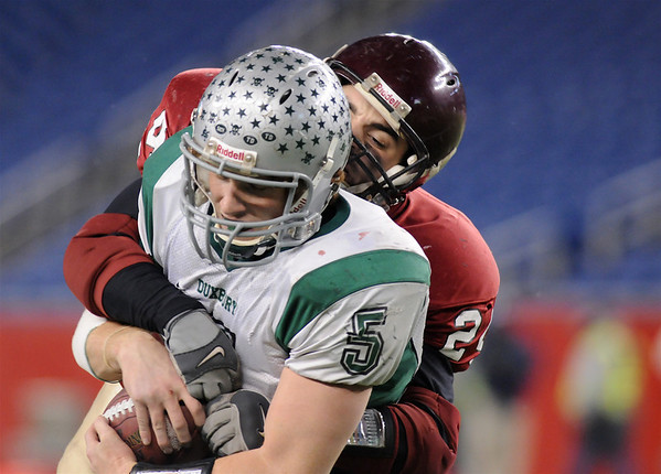 Gloucester's Marc Alves takes down Duxbury's  at Gillette Stadium in Foxboro,Mass December 6,2008.