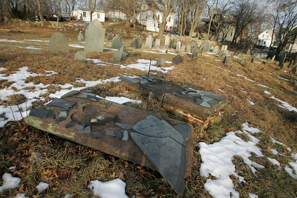 Gloucester: The First Parish Burial Ground is Gloucester's oldest cemetary and is still in need of restoration. Mary Muckenhoupt/Gloucester Daily Times