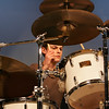 "Rockport:  Jonathan Perry plays the drums as the seventh and eighth grade stage band performs ""Zoot Suit Riot"" during the Jammin' concert at Rockport High School Wednesday night. Mary Muckenhoupt/Gloucester Daily Times"