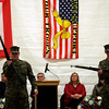 Gloucester: Zachary Jermyn, left, and Aaron Dahlmer, both members of the Gloucester High School MCJROTC perform a drill demonstration during Gloucester's Veterans Day ceremony at the Benjamin Smith Field House yesterday. Photo by Kate Glass/Gloucester Daily Times Tuesday, November 11, 2008