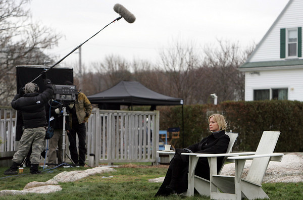 "Rockport: Tracey Needham, best known for her roles in ""Life Goes On"" and ""Jag"", films a scene on the set of ""Hatteras Hotel"" at the Emerson Inn Thursday afternoon. Mary Mucenhoupt/Gloucester Daily Times"